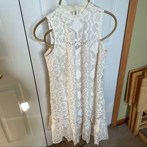 Erin by Erin Fetherston cream lace dress